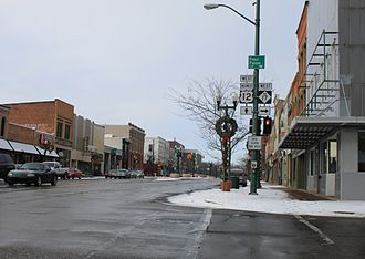 U.S. Route 12 in Michigan - Michigan Avenue facing west, downtown Ypsilanti