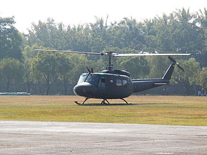 UH-1H Warming up at ROCA Infantry School 20120211.jpg