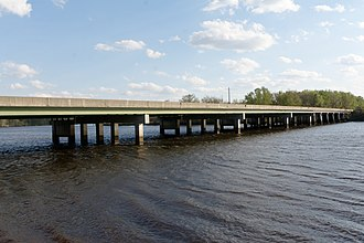 Ogeechee River - US 17 crossing the river in Chatham County, Georgia