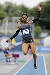 ShaKeela Saunders American long jumper