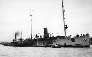 USS Fulton (AS-1) - USS Fulton (PG-49) in March 1934 after her fire at sea.