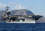 USS Harry S. Truman (CVN 75) departing Greece