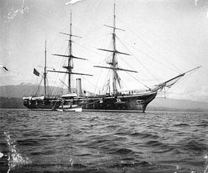 USS Mohican (1883) - Mohican visiting Vancouver, British Columbia.