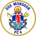 USS Monsoon PC-4 Crest.png