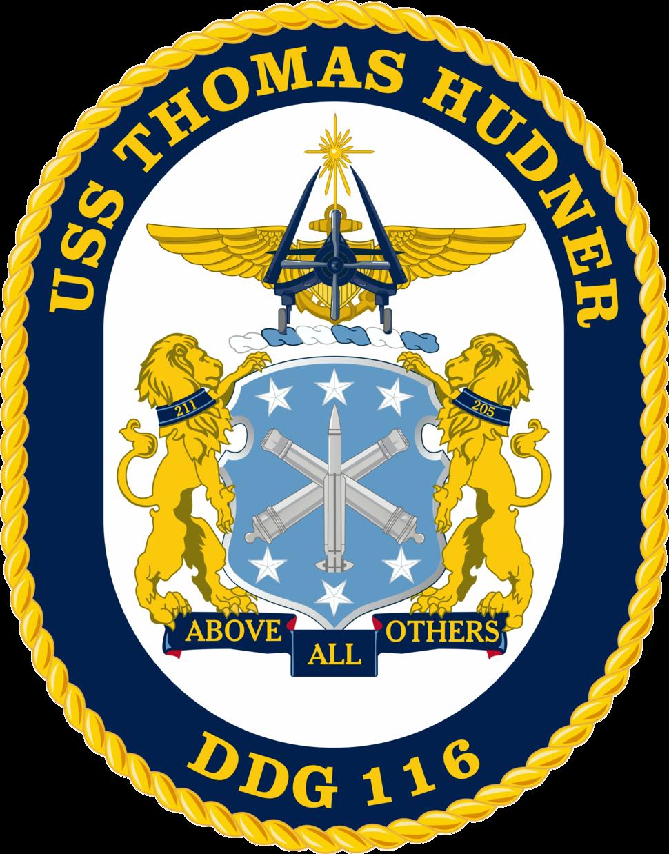 USS Thomas Hudner DDG-116 Crest