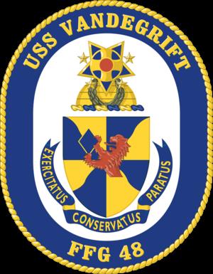 USS Vandegrift (FFG-48) - Image: USS Vandegrift (FFG 48) insignia 1984