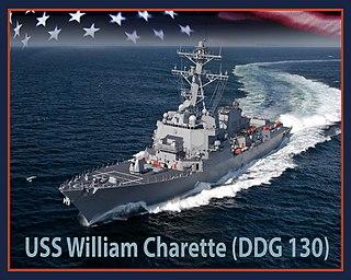 USS <i>William Charette</i> (DDG-130) Guided missile destroyer