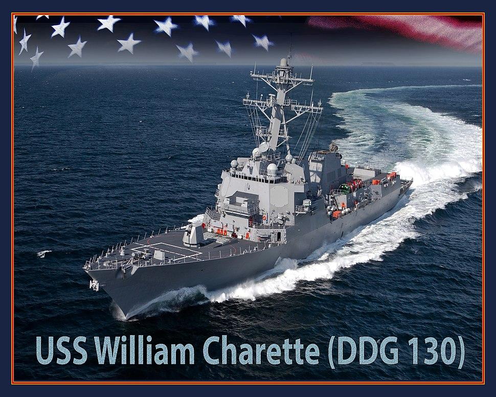 USS William Charette (DDG-130) artist depiction