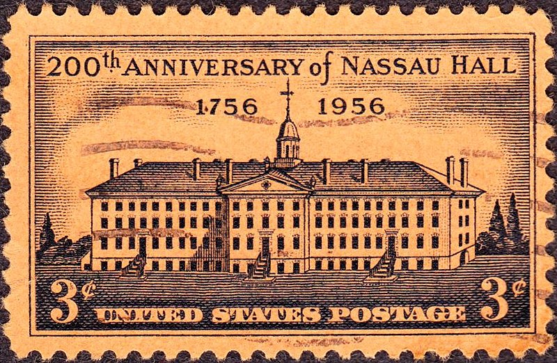 US 1956 3c Nassau Hall.jpg