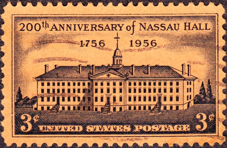 US 1956 3c Nassau Hall