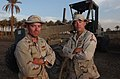US Navy 030528-N-5362A-008 Serving the Navy side by side, Equipment Operator 1st Class Chris Lyerla and Engineering Aide 1st Class Scott Lyerla are brothers who have spent the last three years deployed together in Spain, Bosnia.jpg
