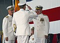 US Navy 031018-N-8253M-141 Admiral Vern Clark, Chief of Naval Operations returns a salute to Vice Adm. John Cotton.jpg