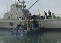 US Navy 050809-F-3177P-275 A U.S. Navy Explosive Ordinance Disposal (EOD) dive team works with the Panamanian National Maritime Service during PANAMAX 2005.jpg