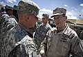 US Navy 090422-N-0696M-147 Chairman of the Joint Chiefs of Staff Adm. Mike Mullen speaks with soldiers assigned to Forward Operating Base Airborne, Afghanistan.jpg