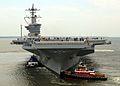 US Navy 090628-N-6125G-019 The aircraft carrier USS Carl Vinson (CVN 70) departs Northrop Grumman Newport News Shipyard.jpg