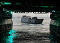 US Navy 100204-N-2218S-015 A landing craft utility from Assault Craft Unit (ACU) 1, disembarks the well deck of the amphibious assault ship USS Essex (LHD 2) during a Cobra Gold 2010 amphibious exercise.jpg