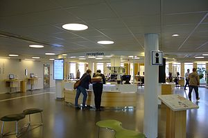 Umeå University Library - The library reception