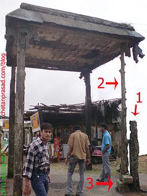 Jugaad - A temporary jugaad improvised repair for a broken support