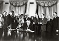 United States President Lyndon B. Johnson signing the Food Stamp Act of 1964.jpg
