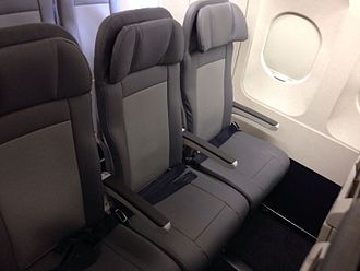 United Airlines - New slimline economy seats on an Airbus A320-200