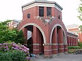 University of Oregon at Willamette Corner - Isaac Newton Gargoyle & James Clerk Maxwell Gargoyle.jpg