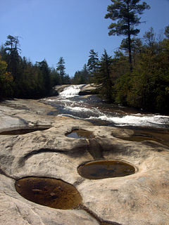 waterfall in the DuPont State Forest