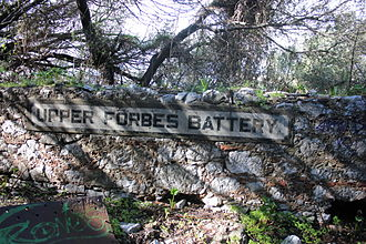 George Forbes, 3rd Earl of Granard - Batteries, a Quarry and a Barrier are named for Forbes on Gibraltar