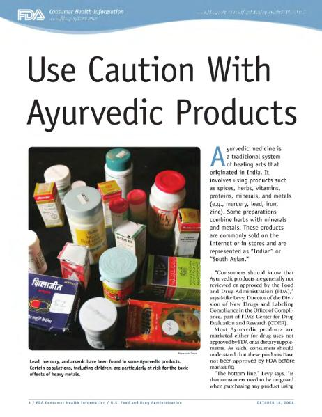 Archivo:Use Caution With Ayurvedic Products (FDA October 16, 2008).djvu