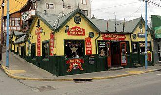 Irish Argentine - Irish Pub in Ushuaia, Tierra del Fuego.