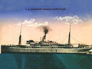 Deutsche Ost-Afrika Linie - Image: Ussukuma 1921 Deutsche Ost Afrika Linie