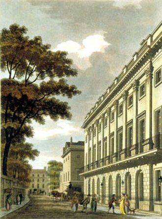 7 Burlington Gardens - Image: Uxbridge House Thomas Malton Jr pub 1801 edited