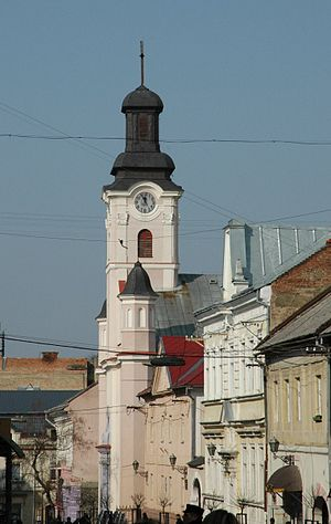 The roman catholic church in Uzhhorod (Ukraine)