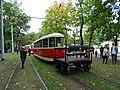 Výstaviště Holešovice, historické tramvaje 2015, vůz 5001 s vozíkem 6006.jpg