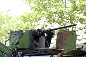 Véhicule de l'Avant Blindé - detail of open machine gun turret