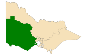 Western Victoria Region - Location of Western Victoria Region (dark green) in Victoria