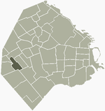 Location of Villa Luro within Buenos Aires