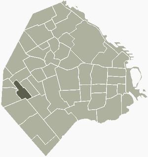 Villa Luro - Image: V Luro Buenos Aires map