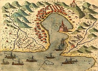 Bay of Vlorë - Image: Valona Pinargenti 1573