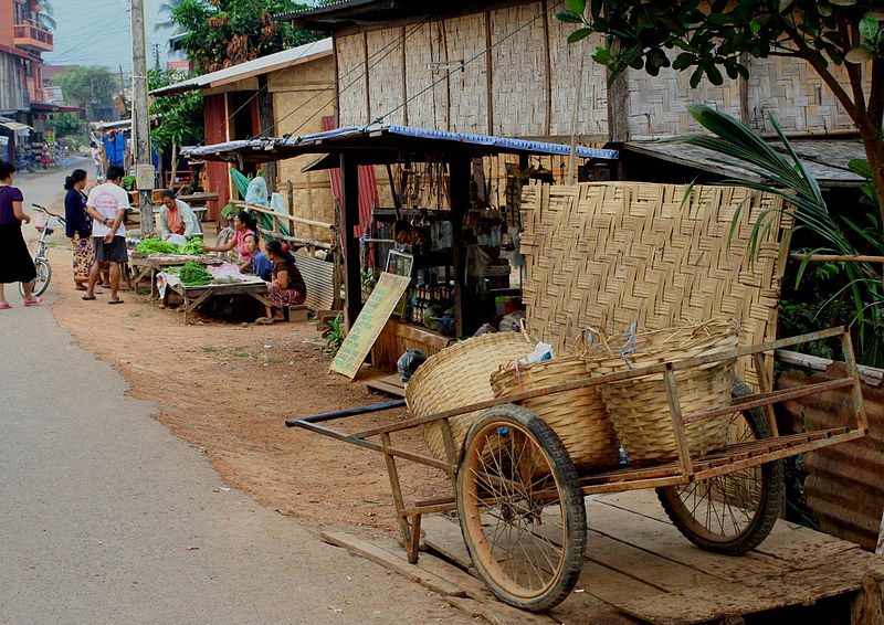 Vang Vieng, popular with backpackers