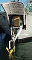 Variabel dybde sonar (VDS) på et af søværnets skibe af Thetis-klassen.jpg