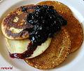 Vegan pancakes with blueberry jam (3076345143).jpg