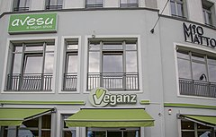 photograph of Veganz storefront