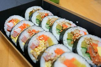 Gimbap - sliced vegetable gimbap