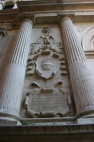 San Zulian - Image: Venezia Jacopo Sansovino, San Zulian (1555) Foto Giovanni Dall'Orto, 12 Aug 2007 12 Iscrizione ebraica