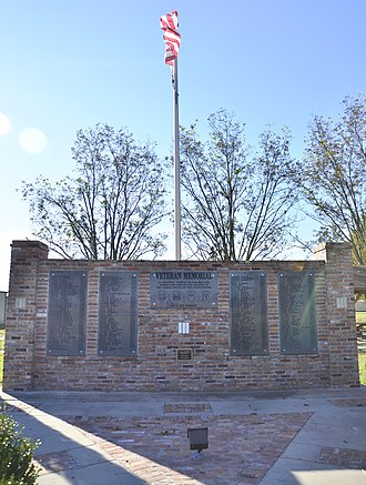 Halley, Arkansas - Veteran's Memorial in Halley