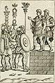 Veterum Romanorum Religio castrametatio, disciplina militaris ut and balneae ex antiquis numismatibus and lapidibus demonstrata (1686) (14803655933).jpg