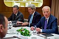 Vice President Biden, Joined by Secretary Kerry and SRAP Olson, Addresses Afghanistan President and Pakistan Prime Minister During Trilateral Meeting on Sidelines of World Economic Forum in Switzerland (24221751650).jpg