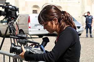 Video journalism - A videojournalist in Italy.