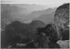 "View, looking down, ""Grand Canyon National Park,"" Arizona, 1933 - 1942 - NARA - 519879.tif"