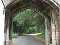 View into the grounds of Penrhyn Castle through the gate of the Port Lodge - geograph.org.uk - 583787.jpg